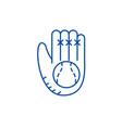 baseball glove line icon concept baseball glove vector image