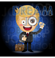 businessman with magnifying glass search for job vector image