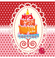 Cake Formed From Happy Birthday Text - card vector image