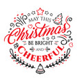 calligraphic lettering for merry christmas vector image vector image