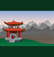 chinese pagoda background vector image