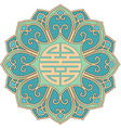 Chinese rosette vector image vector image