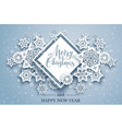 christmas snowy paper cut vector image vector image