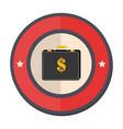 circular border portfolio with dollar symbol vector image