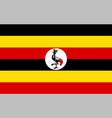 close up flag uganda vector image vector image