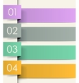 Colored ribbons vector image vector image