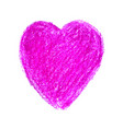 colorful heart shape drawn vector image vector image