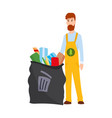 ecology concept detailed garbage vector image