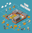 factory isometric infographics layout vector image vector image