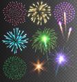 Festive Colorful Firework Salute Burst on vector image vector image