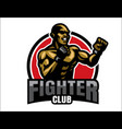fighter logo vector image vector image