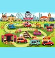 food trucks festival map vector image