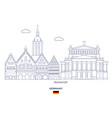 frankfurt city skyline vector image vector image