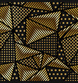 gold triangle pattern vector image