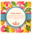 greeting card with autumn foliage vector image