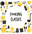 hand drawn banner background with cooking vector image vector image