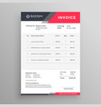 invoice creative modern invoice template design vector image vector image