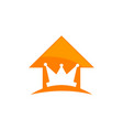 king real estate vector image