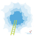 ladder to sky template vector image vector image