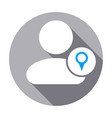 location people pin user icon vector image