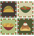 mexican food decorations vector image vector image