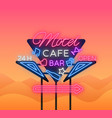 motel is a light billboard neon signboard with vector image