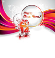 New Year 2014 colorful celebration background vector image