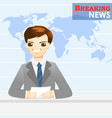 news announcer telling news in studio vector image vector image