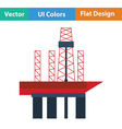 Oil sea platform icon vector image vector image