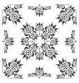 old fashioned floral design element for textures vector image