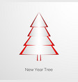 paper new year tree new year greeting card vector image vector image