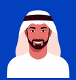 portrait a arab man with a beard vector image vector image