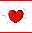red cartoon heart- drawing vector image