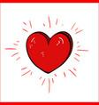Red cartoon heart- drawing