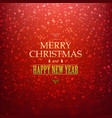 red christmas bokeh card vector image vector image