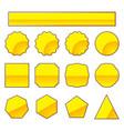 set of gold stamp vector image