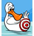 sitting duck saying cartoon vector image vector image