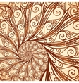 spiral background in henna tattoo style vector image vector image
