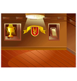 Sports Trophy Cabinet vector image