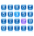 Stencil blue buttons for entertainment vector image vector image