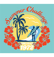 summer surfing challenge california vector image vector image
