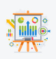 target analytics charts on board presentations vector image
