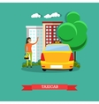 Taxicab concept flat design vector image vector image