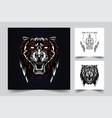 tiger artwork vector image vector image