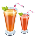 Vegetable juice with mint and cocktail straw vector image vector image