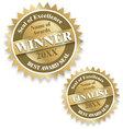 Winner and finalist award seals vector image