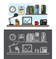 Workspace and office concept vector image vector image