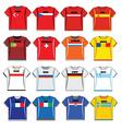 football shirts vector image