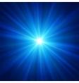 Blue color design with a burst vector image