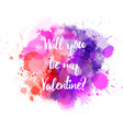 pink and purple valentine splash vector image